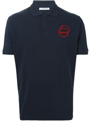 J.W.Anderson J.W. Anderson Orbital Patch Polo Shirt Blue