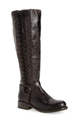Bed Stu Women's Burnley Knee High Corset Boot