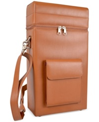 Royce Leather Connoisseur Wine Carrier Tan