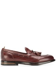 Officine Creative Tassel Loafers Red