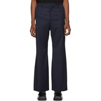 Martine Rose Navy Double Flare Trousers