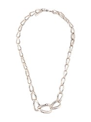 John Hardy Bamboo Graduated Link Necklace Silver