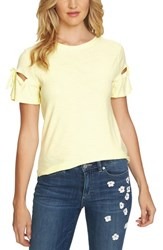 Cece Bow Sleeve Knit Top Finch Yellow