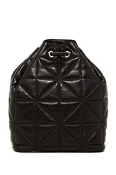 Milly Avery Quilted Leather Backpack Black