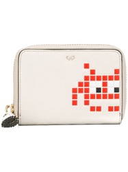 Anya Hindmarch 'Space Invaders' Wallet Nude And Neutrals