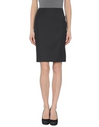 Hotel Particulier Knee Length Skirts Black