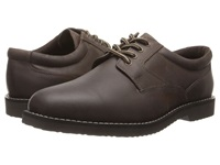 Nunn Bush Bloomington Plain Toe Oxford Lace Up Brown Smooth Men's Shoes