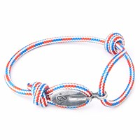 Anchor And Crew Project Rwb Red White And Blue London Rope Bracelet White Red Blue