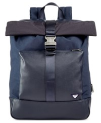 Armani Jeans Men's Codice Roll Top Backpack Navy