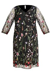 Evans Floral Cocktail Dress Party Dress Multicolor Multicoloured