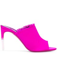 Tom Ford Fringe Detailed Mules Pink And Purple