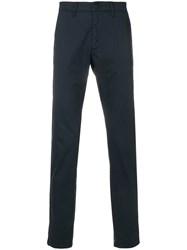 Hydrogen Striped Trim Trousers Blue