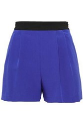 Milly Woman Two Tone Cady Shorts Royal Blue
