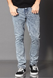 Forever 21 Skinny Fit Acid Wash Denim Washed