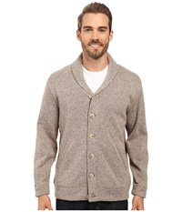 Pendleton Willamette Cardigan Tan Heather Men's Sweater