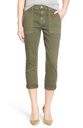 Women's 7 For All Mankind Crop Slim Boyfriend Military Pants