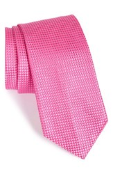 Nordstrom Men's Men's Shop 'Nate' Solid Silk Tie Pink