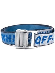 Off White Industrial Logo Belt Blue