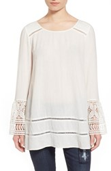 Junior Women's Sun And Shadow Lace Tunic