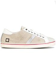D.A.T.E. Lace Up Sneakers Nude Neutrals