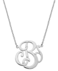 Giani Bernini Sterling Silver Necklace 'B' Initial Pendant Necklace
