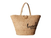 Hat Attack To The Beach Bag Natural Black Bags Beige