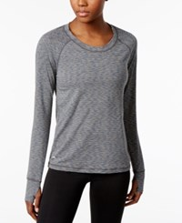 Ideology Space Dyed Training Top Only At Macy's Charcoal Heather