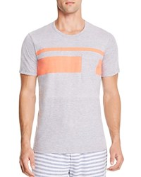 Splendid Chest Stripe Pocket Tee Fire Island