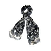 Thorpe Lace Sampler Scarf Black