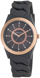 Pilgrim Rose Gold Plated Grey Silicon Watch Grey