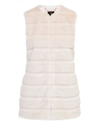 Ted Baker Jeana Textured Faux Fur Gilet Cream