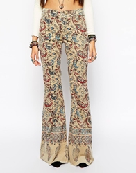 Free People Bali Flare In Feather Paisley Print Multi