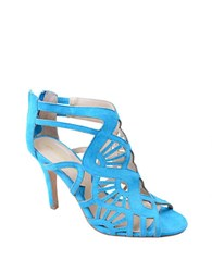 Adrienne Vittadini Gaven Architectural Suede Sandals Turquoise