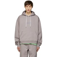 Wonders Ssense Exclusive Grey Embroidered Logo Hoodie