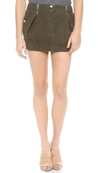 Faith Connexion Pleated Miniskirt Khaki
