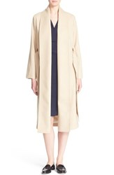 Women's Ayr 'The Fold' Belted Camel And Wool Coat