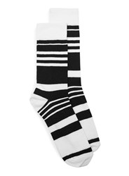 Topman Black And White Stripe Socks