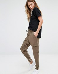 Only Jersey Relaxed Cargo Trousers Tarmac Grey