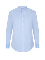 Gieves And Hawkes Herringbone Double Cuff Cotton Poplin Shirt