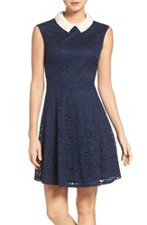 Betsey Johnson Women's Faux Pearl And Lace Dress