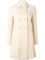 Red Valentino Double Breasted Mid Coat Nude Neutrals