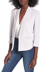 Mural Women's 'Curve' Open Front Shawl Collar Blazer Pale Lilac