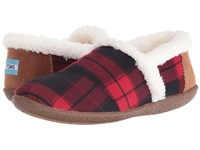 Toms Slipper Red Black Plaid Women's Slippers Multi