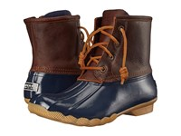 Sperry Saltwater Tan Navy Women's Lace Up Boots