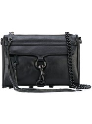 Rebecca Minkoff Chain Strap Crossbody Bag Women Cotton Leather One Size Black