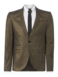 Label Lab Men's Bonham Metalic Skinny Blazer Gold