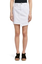 Rag And Bone Women's Jean Dive Denim Skirt White
