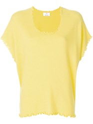 Allude Lettuce Trim T Shirt Yellow And Orange