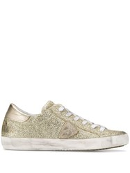 Philippe Model Paris Glitter Sneakers Gold
