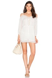 Zimmermann Realm Scallop Playsuit White